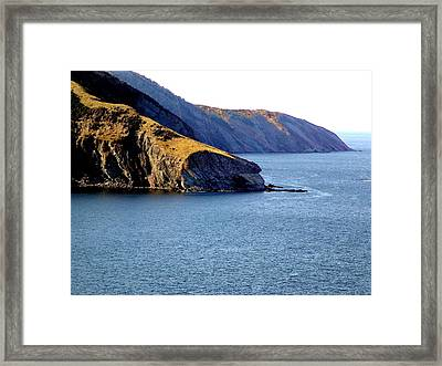 Atlantic Headlands Framed Print by George Cousins