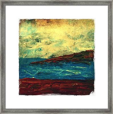 Atlantic Ocean Beach Scene Framed Print by Laura Carter