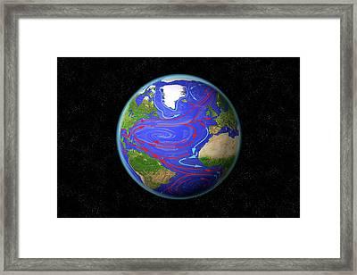 Atlantic Ocean Currents Framed Print