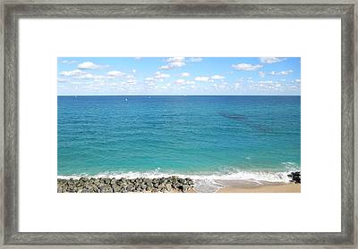 Atlantic Ocean In South Florida Framed Print
