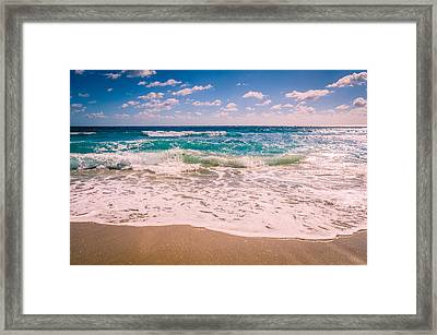 Atlantic Ocean In The Morning Framed Print by Anthony Doudt