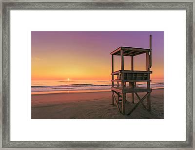 Atlantic Ocean In The Morning - Nauset Beach Framed Print by Dapixara