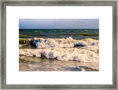 Atlantic Ocean Waves Framed Print
