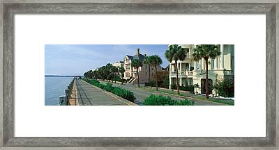 Atlantic Ocean With Historic Homes Framed Print by Panoramic Images