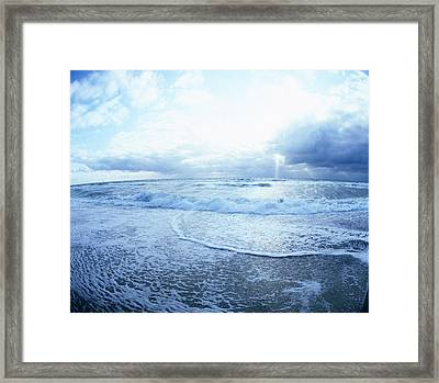 Atlantic On The Rise Framed Print by Jan W Faul