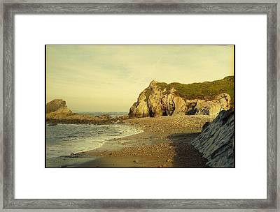 Atlantic Seascape Asturias Spain Framed Print by Juan  Bosco