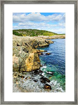 Atlantic Shoreline Framed Print by Donald Fink