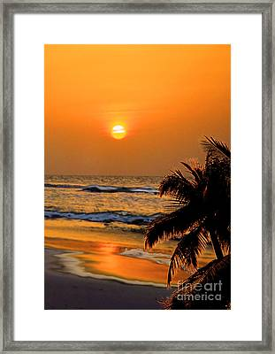 Atlantic Sun Rising Framed Print by Kathy Baccari