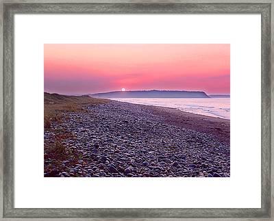 Atlantic Sunrise Framed Print by George Cousins