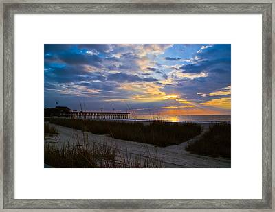Atlantic Sunrise In March Framed Print