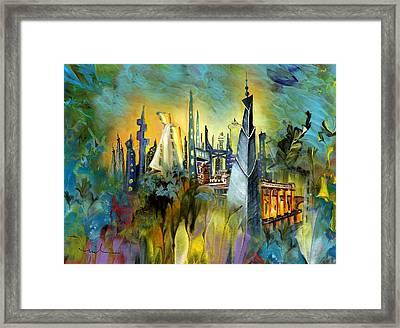 Atlantis Framed Print by Miki De Goodaboom