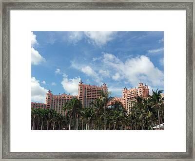 Atlantis Resort At Paradise Island Framed Print by Teresa Schomig