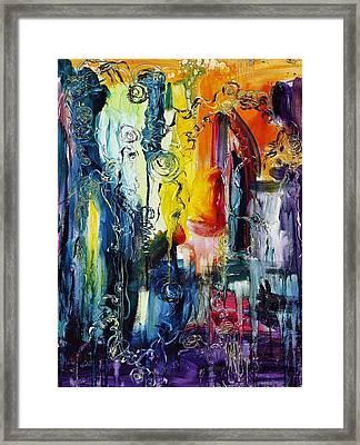 Atlantis Sinking Framed Print by Regina Valluzzi