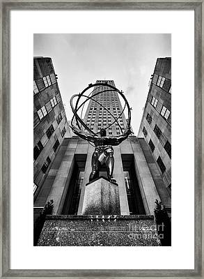 Atlas At The Rock Framed Print