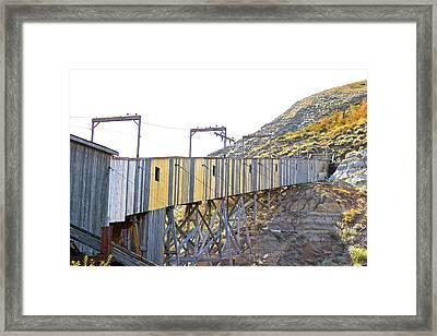 Atlas Coal Mine Fall Framed Print by Brian Sereda