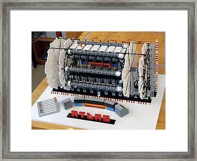 Atlas Detector At Cern Framed Print