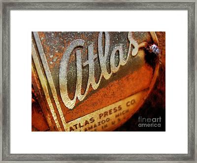 Atlas Press - No.96782 Framed Print by Joe Finney