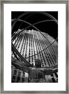 Atlas Rockefeller Center Framed Print