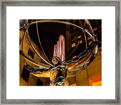 Atlas - Rockefeller Center Framed Print