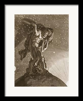 The Heavens Drawings Framed Prints