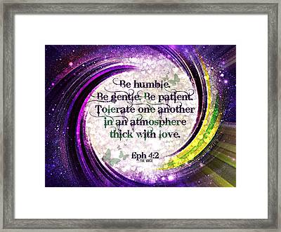 Atmosphere Of Love Ephesians 4 2 Framed Print