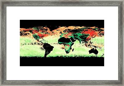 Atmospheric Aerosol Distribution Framed Print
