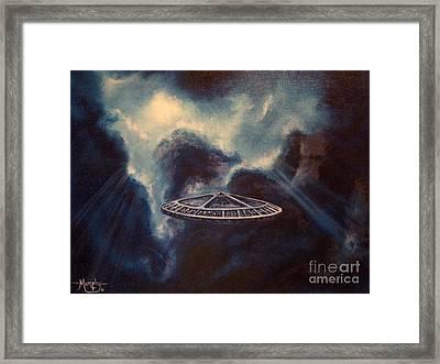 Atmospheric Arrival Framed Print by Murphy Elliott