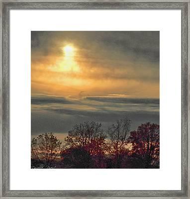 Atmospheric Autumn Sunset Framed Print