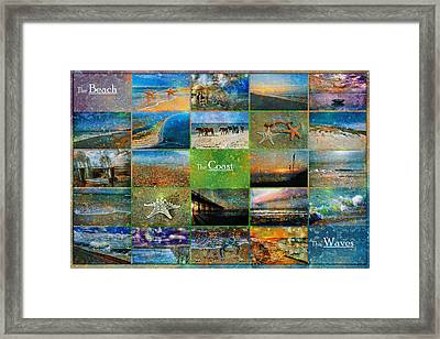 Atmospheric Beaches   Framed Print