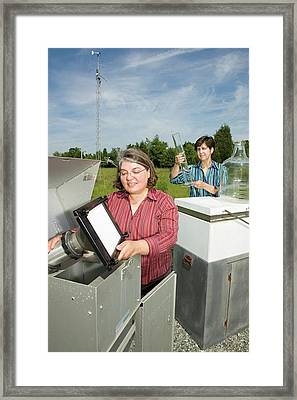 Atmospheric Pollutant Research Framed Print by Peggy Greb/us Department Of Agriculture