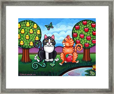 Atom And Eva Framed Print