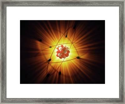 Atom Framed Print by Ktsdesign