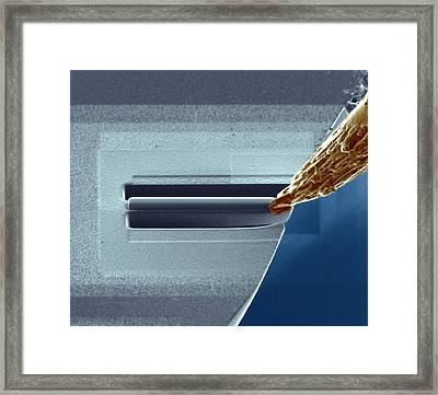 Atom Probe Analysis Framed Print by Ammrf, University Of Sydney