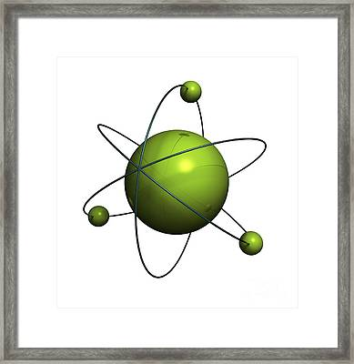 Atom Structure Framed Print by Johan Swanepoel