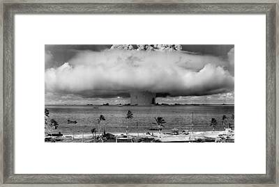 Atomic Bomb Test Framed Print by Mountain Dreams
