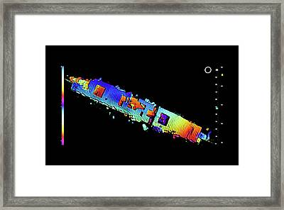 Atomic Bomb Test Ship Wreck Framed Print