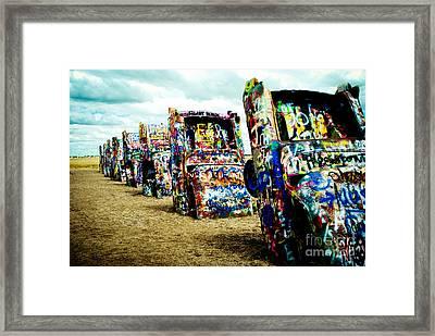Atomic Cadillacs Framed Print by Sonja Quintero