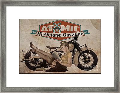 Atomic Gasoline Framed Print