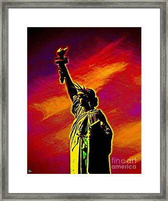 Atomic Liberty Framed Print