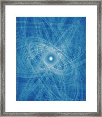 Atomic Nucleus Conceptual Artwork Framed Print