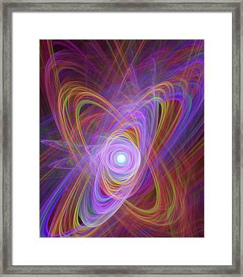 Atomic Nucleus Conceptual Image Framed Print