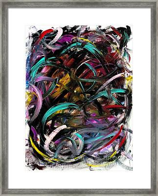 Atomic Ribbons Framed Print