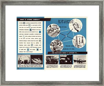 Atoms For Peace Programme Framed Print