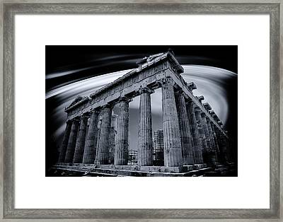 Framed Print featuring the photograph Atop The Acropolis by Micah Goff