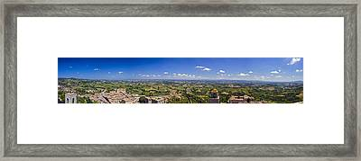 Atop The Bell Tower In San Gimignano Framed Print