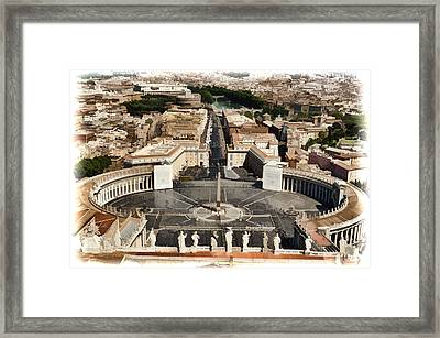 Atop The Domo - Vatican Framed Print by Jon Berghoff