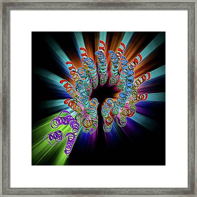 Atp Synthase Molecule Framed Print by Laguna Design