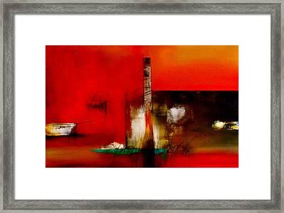 Atracando Framed Print by Thelma Zambrano