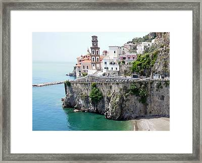 Atrani On Amalfi Coast Framed Print
