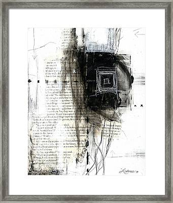 Atrapada -trapped - The Series -black And White Abstract  Framed Print by Laura  Gomez